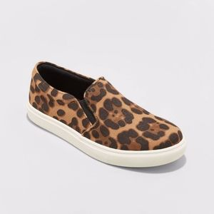 Reese Faux Leather Leopard Print Sneakers